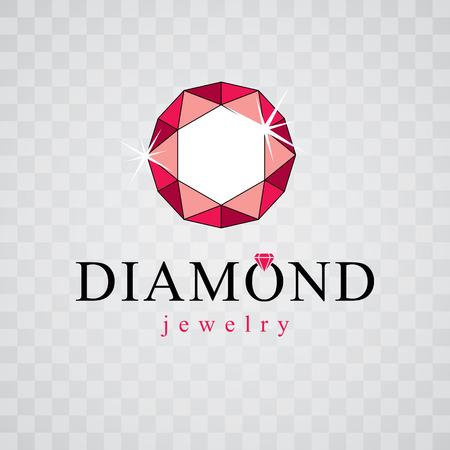 Glossy diamond emblem sign.