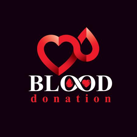 blood transfer: Blood donation inscription.