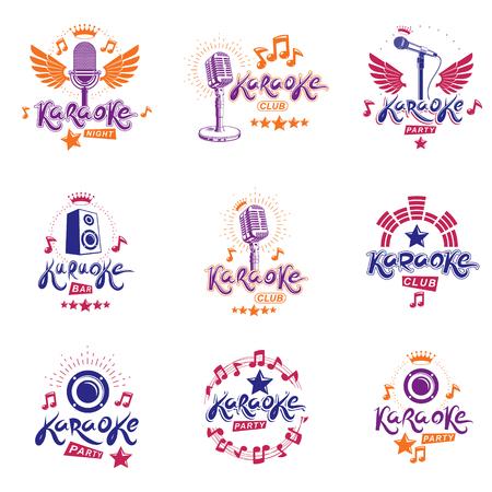 Karaoke signage design.