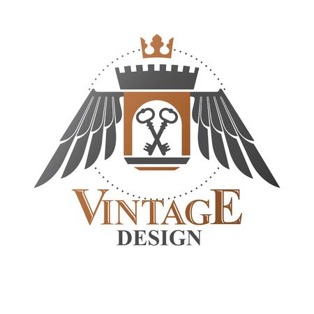 Heraldic emblem concept design.  sc 1 st  123RF.com & 613 Door Prizes Stock Vector Illustration And Royalty Free Door ...