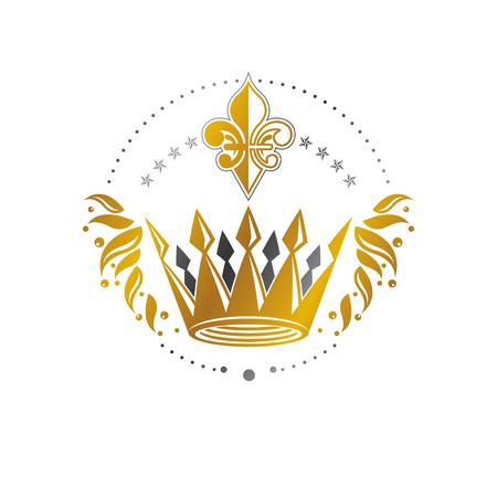 Imperial crown emblem illustration.