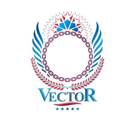 Heraldic emblem concept design.