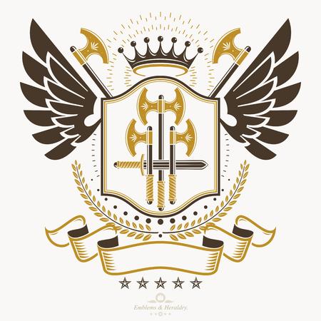 blade: Heraldic emblem concept design.
