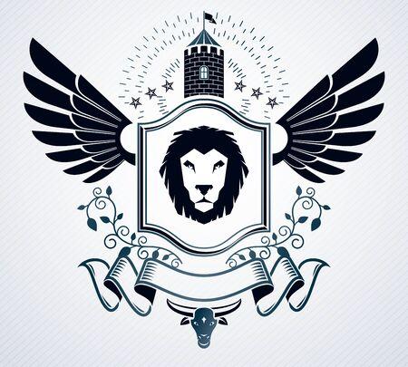 armory: Heraldic emblem concept design.