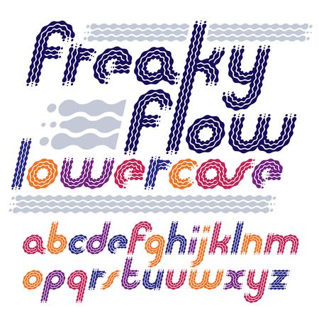 rhythm rhythmic: Lower case modern disco alphabet letters set.