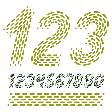 Numbers modern numerals set.