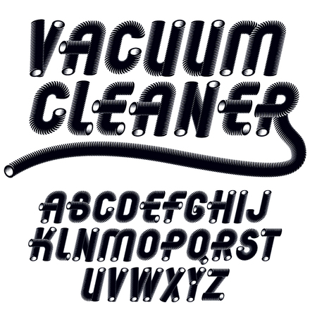 유행 빈티지 자본금 영어 알파벳 문자 컬렉션입니다.