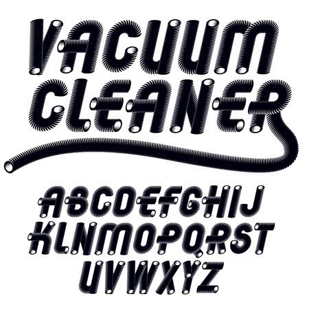 Trendy vintage capital English alphabet letters collection.