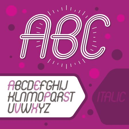 Cool capital alphabet letters collection. Иллюстрация