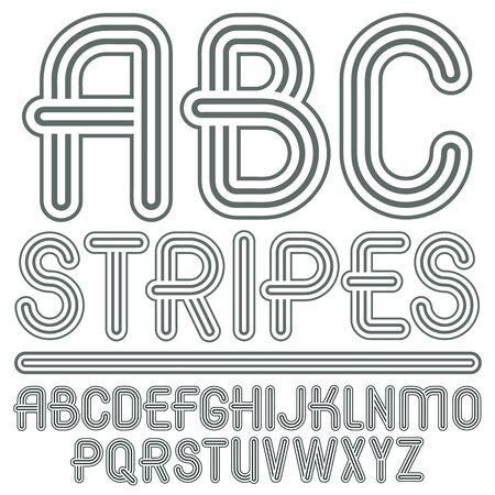 Capital modern alphabet letters.
