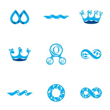 Fresh mineral water design emblems.