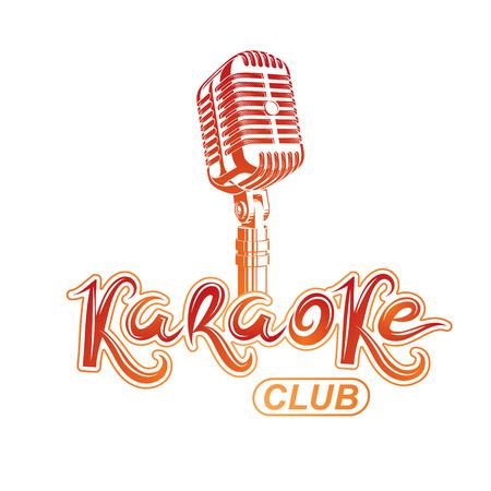 Karaoke club lettering. Illustration