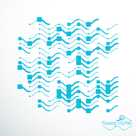 Illustration of wavy line abstract pattern. Illustration