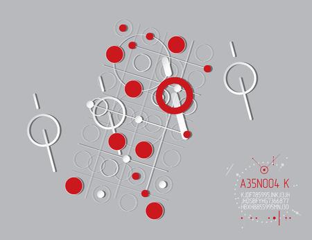 Futuristic abstract technology design pattern. Illustration