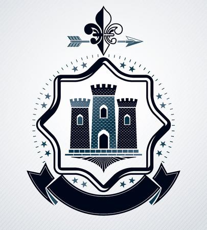 Vintage award design heraldic emblem.