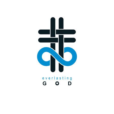 Immortal God conceptual symbol.