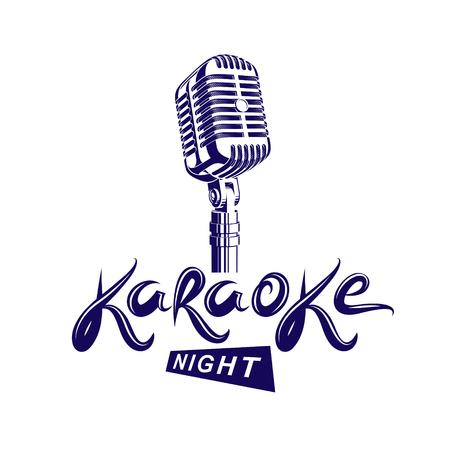 Stadium microfoon illustratie karaoke-symbool. Stock Illustratie