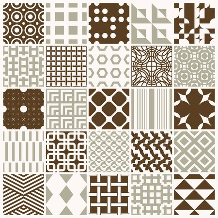 Ornamental backdrops with geometric pattern.