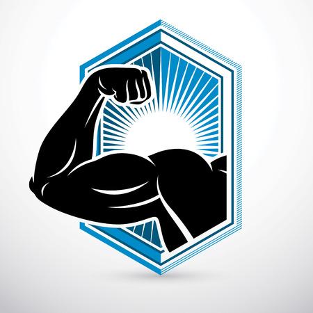 Athletic arm emblem design. Illustration