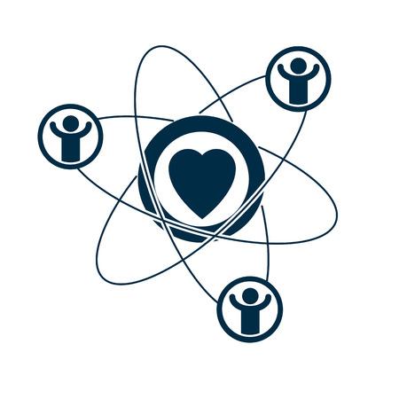 Heart graphic icon illustration.  イラスト・ベクター素材