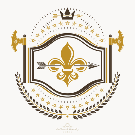 Heraldic emblem isolated vector illustration. Imagens - 91133362