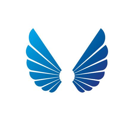 Wings heraldic symbol. Heraldic Coat of Arms decorative isolated vector illustration. Illustration