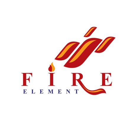 The power of burning fire, nature element vector for use in petrol and gas advertising.