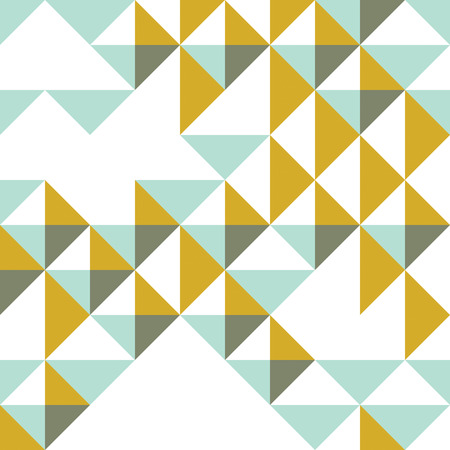 Triangles and rhombus geometric abstract trendy seamless pattern, vector funky background. Usable for fabric, wallpaper, wrapping, web and print.