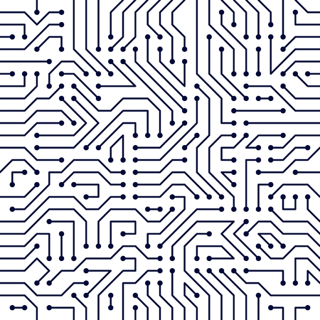 Płyta główna płyta wzór, tło wektor. Powtórz projekt tapety elektroniki technologii obwodu drukowanego.