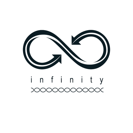 Endless infinity loop conceptual icon, vector special sign.
