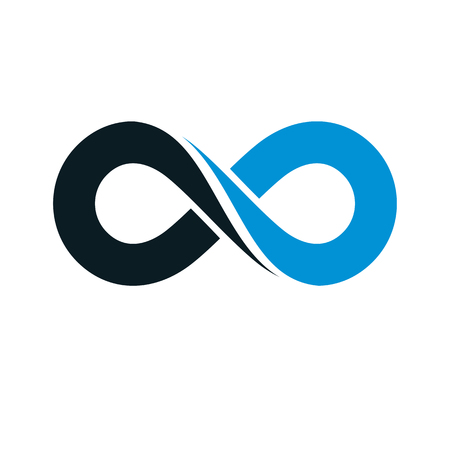 Endless infinity loop vector symbol, conceptual icon special design.