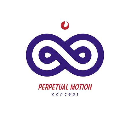 Eindeloos Infinity Loop conceptueel logo, vector speciaal teken. Stock Illustratie