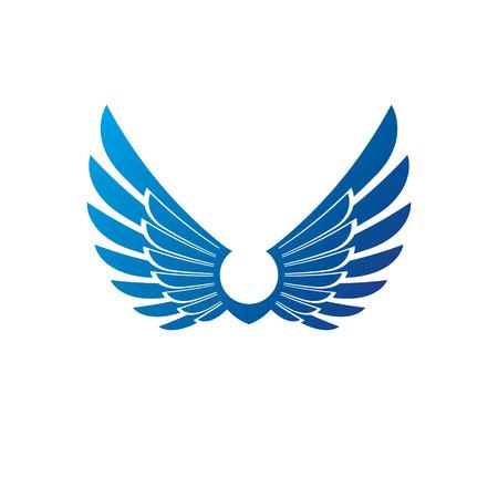 Wings heraldic symbol. Heraldic Coat of Arms decorative logo isolated vector illustration.
