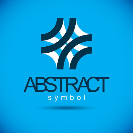 Vector abstract geometric shape best for use as corporate development logo, icon. Modern logothype.