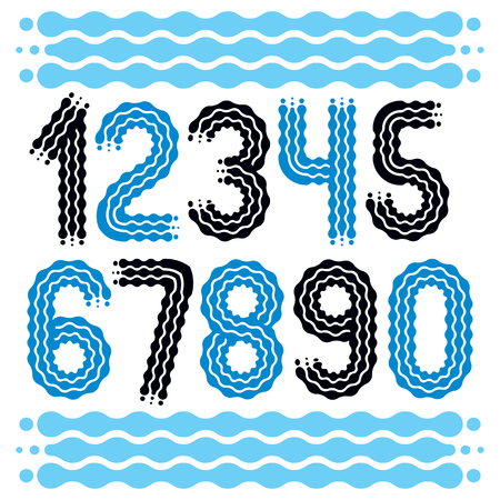 Trendy and cool numbers icon collection. Illusztráció
