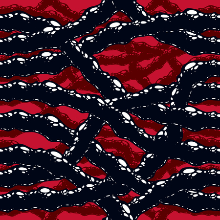 Disgusting horror and nightmare seamless pattern, vector background.