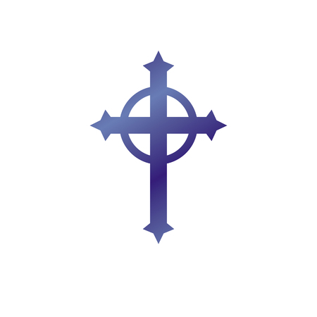 Christian Cross decorative emblem.