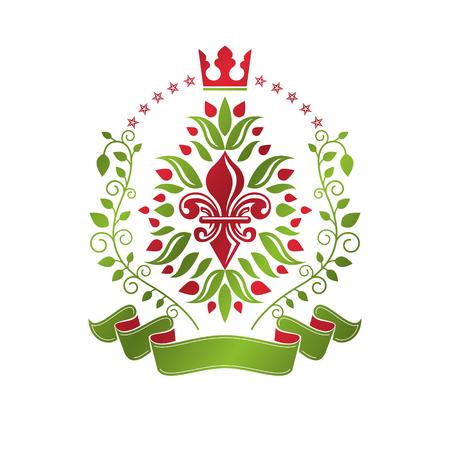 Lily Flower Royal emblem.