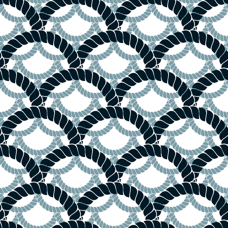 Rope seamless pattern, trendy vector wallpaper background. Weaving or fishing net macro detailed endless illustration. Usable for fabric, wallpaper, wrapping, web and print. Illustration