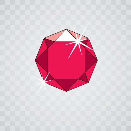 Vector luxury faceted decorative element. Glossy diamond icon, illustration. Stock Vector - 98234415
