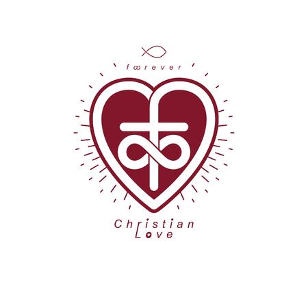 Everlasting Love Of God Vector Creative Symbol Design Combined
