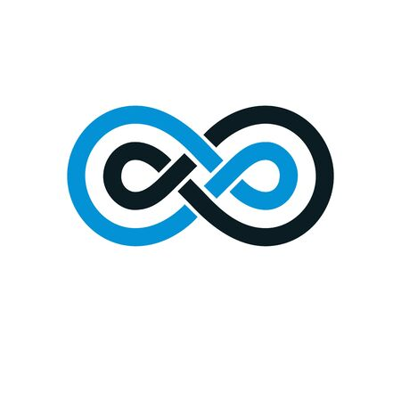 Endless infinity loop conceptual icon illustration