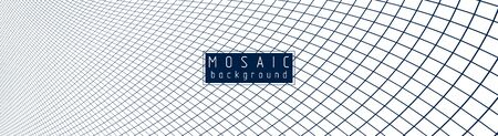 Abstract mosaic background template with lines design