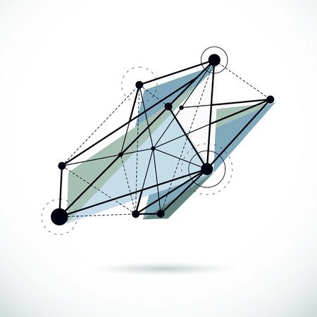 Tech abstract shape, vector polygonal figure. Communication technologies modern illustration.