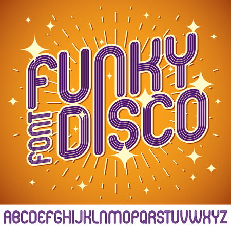 Vector funky upper case English alphabet letters collection