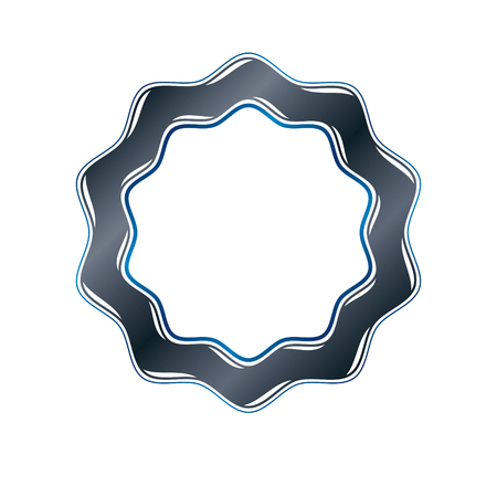 Victorian art vector circular frame with blank copy space created using curvy ornate.