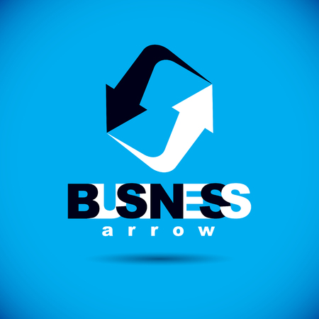Business innovation vector boost up arrow, graphic design element. Company increasing concept.