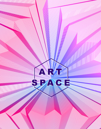 A Vector illusive surreal art background for design like a hallucination drug trip surrealism, linear 3d trend. Illustration