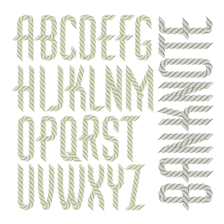 Vector capital condensed alphabet letters collection made with spirograph pattern, guilloche ornament. Can be used for logo creation in banking.