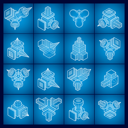 Abstract construction isometric designs, vector set.